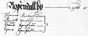 Rostabönder 1565